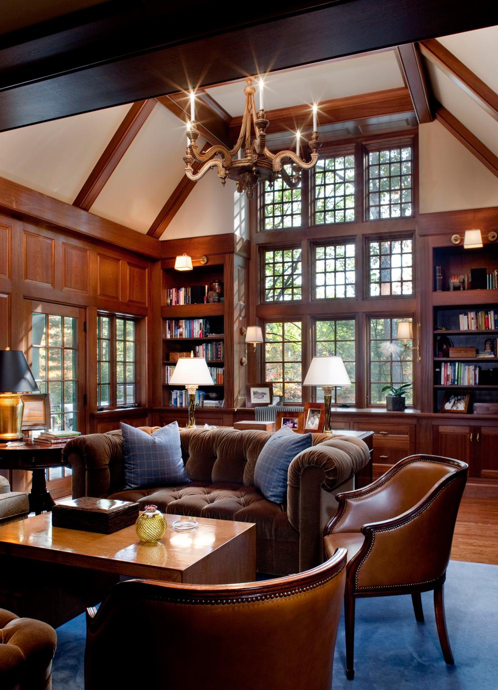 2-Story-Mahogany-Library